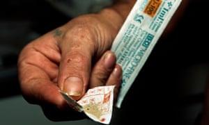 Heroin in a lottery slip