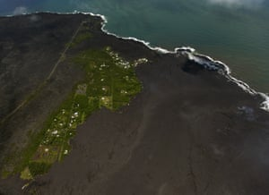 Most of the Kapoho Bay area, including the tide pools, is now covered in fresh lava.