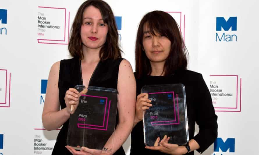 Deborah Smith (left) with Booker-winning author Han Kang