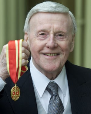 Jimmy Young receiving his knighthood in 2002.