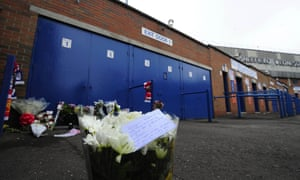 Floral tributes left in 2009 at the Leppings Lane end of Hillsborough.