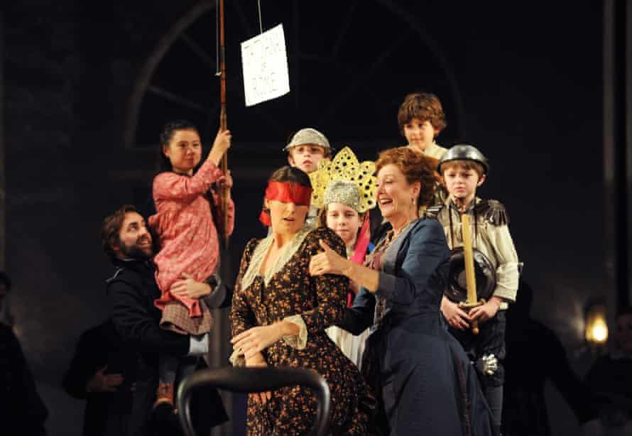 Amanda Echalaz and Diana Montague in Eugene Onegin at the London Coliseum, directed by Deborah Warner in 2011.