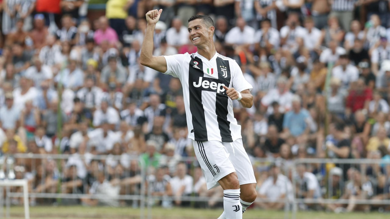 d8c7374fa Cristiano Ronaldo scores on Juventus debut amid pitch invaders  welcome –  video