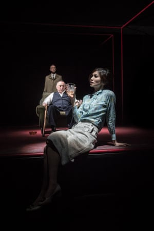 Gary Kemp, Ron Cook and Gemma Chan in The Homecoming at Trafalgar Studios.