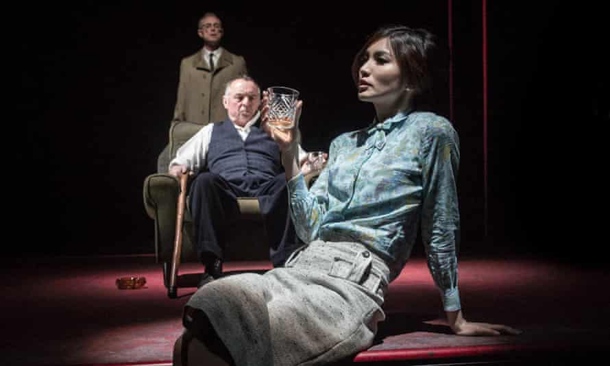 Gemma Chan as Ruth, with Gary Kemp and Ron Cook, in The Homecoming