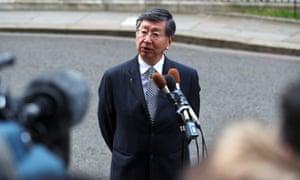 Koji Tsuruoaka, Japan's ambassador to Britain