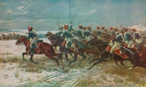The Charge of the 10th Hussars at Benevente (Corunna Campaign), by William Barnes Wollen.