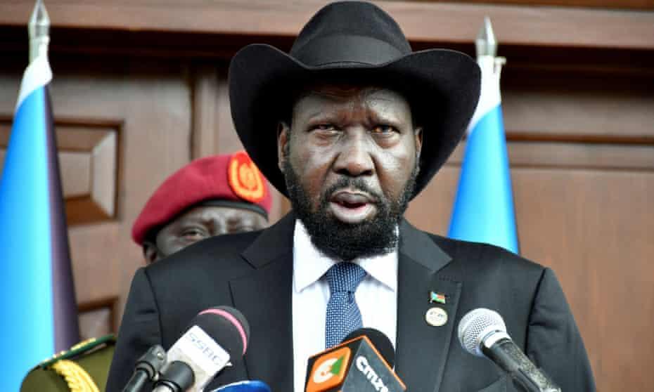 South Sudan's president Salva Kiir.