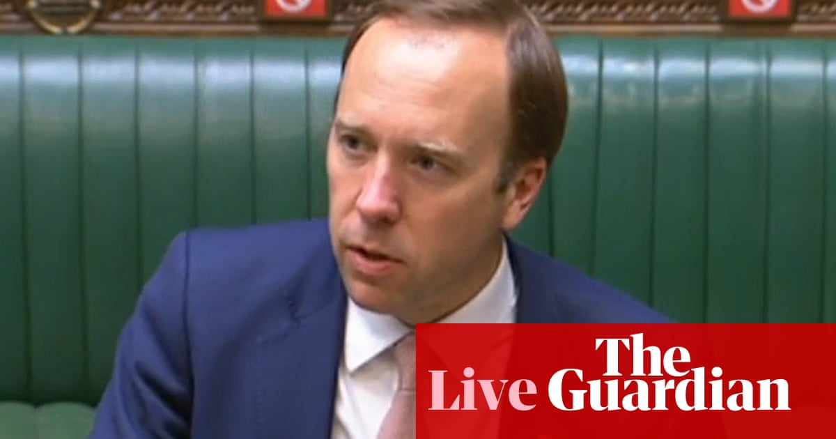 UK Covid live news: Hancock faces Commons after Cummings allegations he lied repeatedly