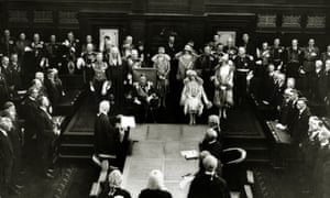 The future King George VI attends the opening of the federal parliament in Canberra in May 1927.