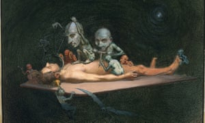 Richard Cooper's watercolour (c 1912) symbolises the effects of chloroform on the human body.