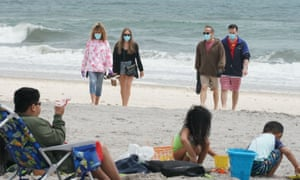 New Yorkers ventured to Jones Beach on Sunday, despite cool temperatures