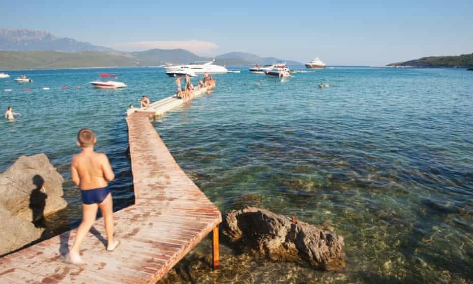 Oblatno beach, near Kotor.