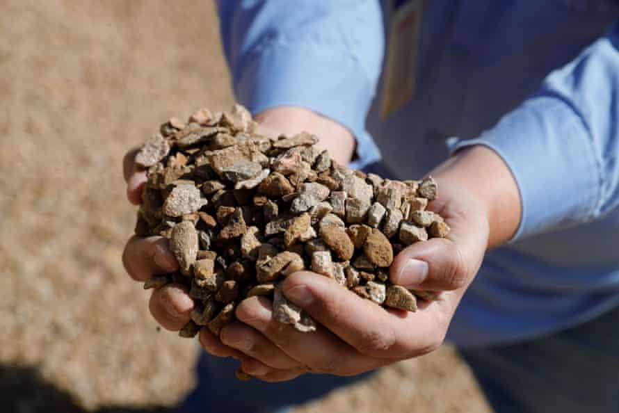 Rare earth ore from a mine in California