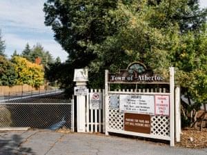 The entrance at Holbrook-Palmer Park, the only public park in Atherton, Calif., Thursday, November 19, 2020.