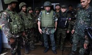 The Philippine president, Rodrigo Duterte