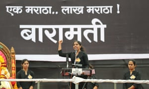 Baramati protesters speak out at the end of the march.