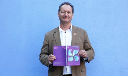 Richard Bean holds a copy of the Hull UK City of Culture 2017 season programme.