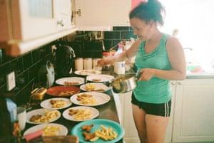 Emma (Mark's partner) at home in Darwen, 2018