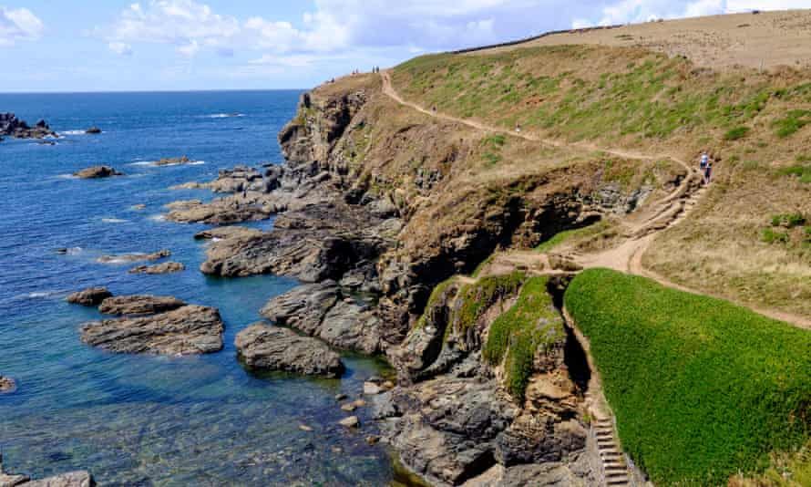 Polpeor Cove and the path towards Lizard Point.