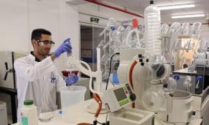 A lab at Ben-Gurion University in Israel