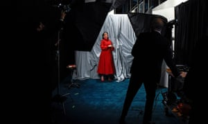 Olivia Colman poses for a portrait photograph at a screening of the Oscars, in London