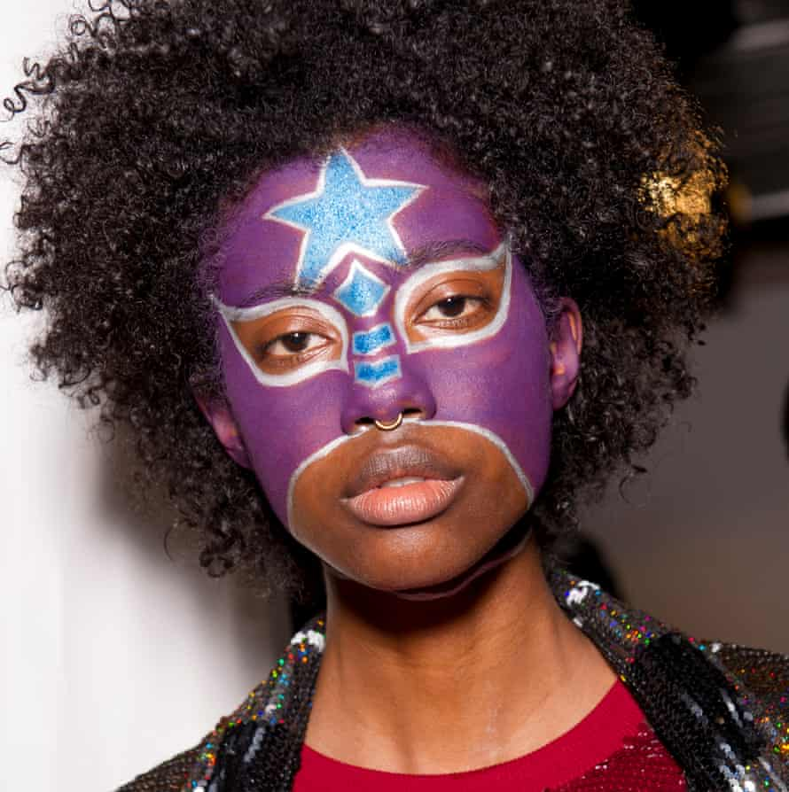 Masked ball: Ashish Gupta channelled Lucha Libra wrestlers for his make-up show.