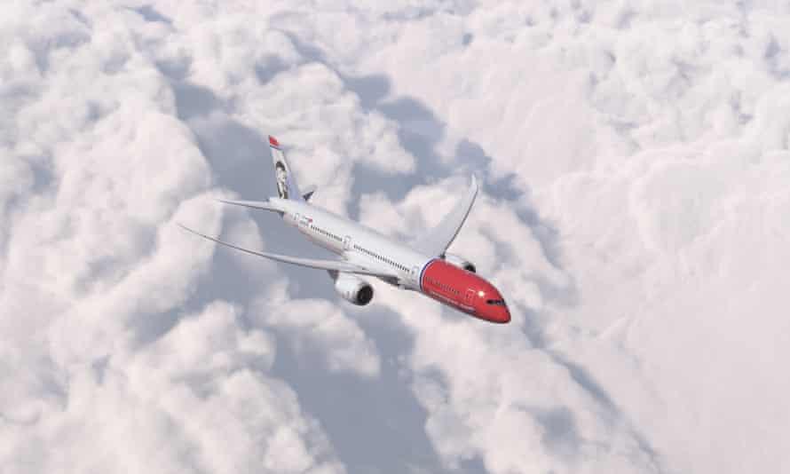 A Norwegian Air 787 Dreamliner
