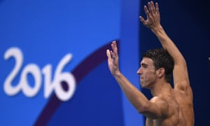 Michael Phelps celebrates after winning a 23rd Olympic gold.