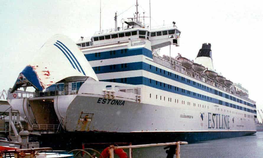MS Estonia in dock