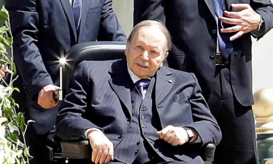 Abdelaziz Bouteflika, pictured last April, has rarely been seen in public since having a stroke in 2013.