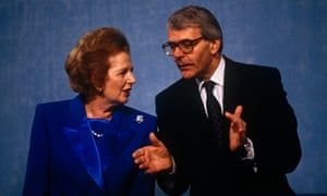 Margaret Thatcher with John Major at the 1991 Tory party conference.