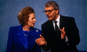 Margaret Thatcher and John Major at the 1991 Tory party conference