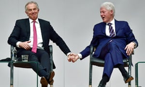 Tony Blair and Bill Clinton in Belfast in April 2018