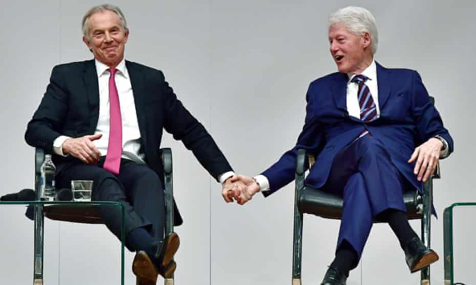 Tony Blair and Bill Clinton in Belfast in April 2018
