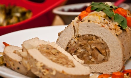 Tofu turkey, the new face of Christmas dinner.