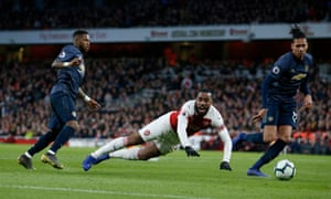 Arsenal's Alexandre Lacazette wins the penalty which completed a 2-0 victory over Manchester United which sees the Gunners occupy fourth place over the international break.