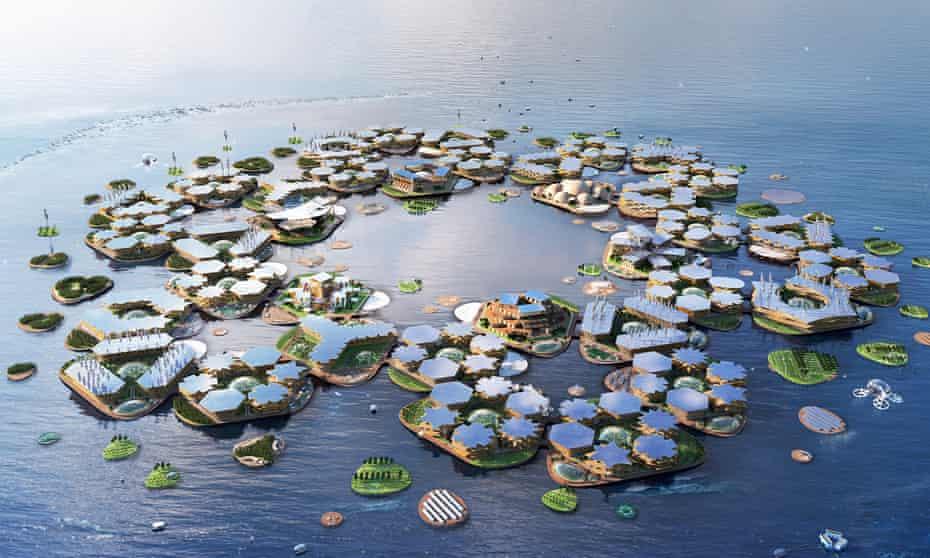 An artist's impression of Oceanix City
