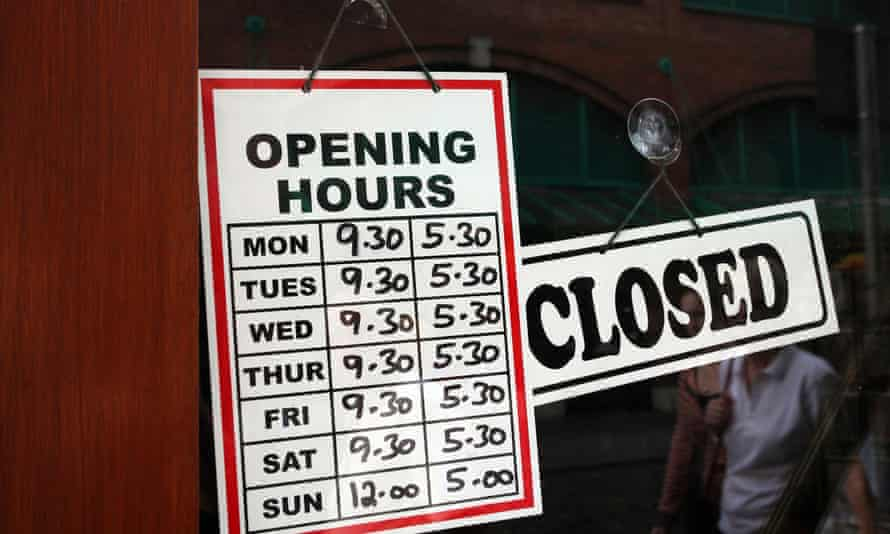 Larger shops can currently open for just six hours on Sunday.