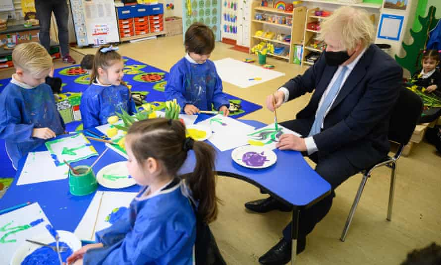 Boris Johnson on a visit to a school in his Uxbridge constituency earlier this year