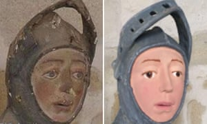 The statue of St George: 'a vivid and controversial restoration'.