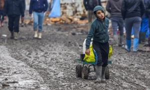 A large camp of refugees hoping to get to the UK has developed at Calais