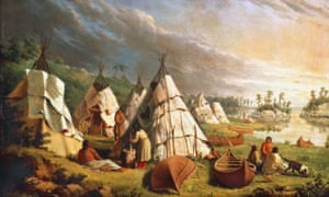 Native American Encampment On Lake Huron (oil on canvas, c 1845, by Paul Kane). In 1850, the indigenous people living on the shores of Lake Huron signed a treaty with Britain.