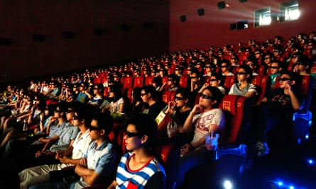 A cinema audience in Wuhan, in China's Hubei Province