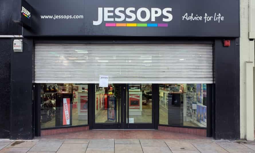 A closed Jessops store in Islington, north London