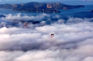San Francisco, US The Golden Gate Bridge all but disappears under a cloud of fog