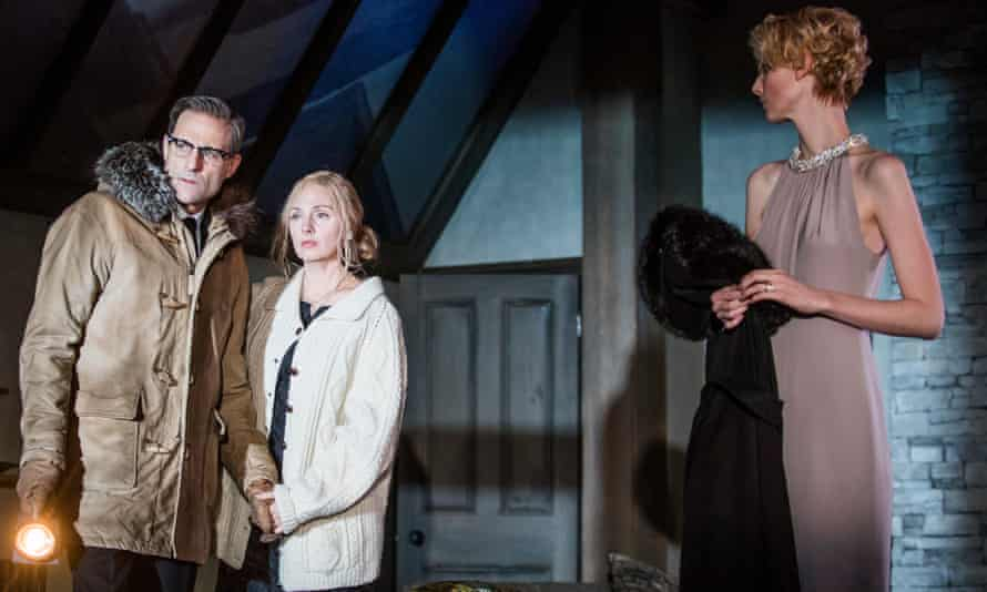 Mark Strong as Donald Dodd with Hope Davis and Elizabeth Debicki in The Red Barn.