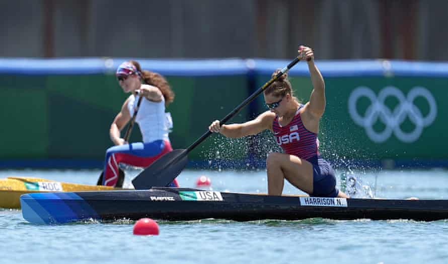 Nevin Harrison of Team USA competes during the women's canoe single 200m sprint final on Thursday.
