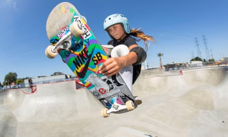 Team GB skateboarder Sky Brown in action.