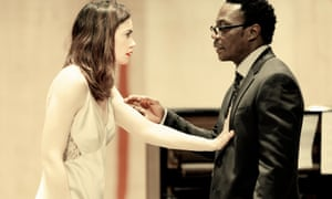 Reaching out … Ruth Wilson and Chukwudi Iwuji rehearse at the National.